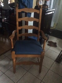 Pair of ladderback dining chairs a 30. ea.
