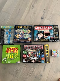 Lot of 6 board games Arlington, 22202
