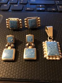 2 Sets of EarRings and 1 Pendant Sterling Silver 35.00 Conyers