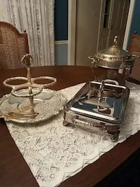 Silver plate serving $15 ea or 3/$40
