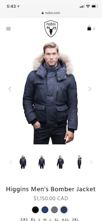 Nobis Higgins Winter Jacket (Small) Markham, L6C