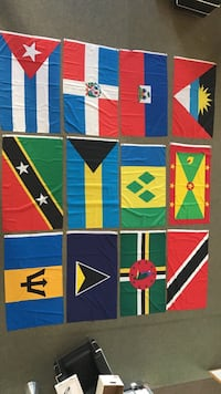 Flags of the Caribbean including Barbados, Dominican Republic +more