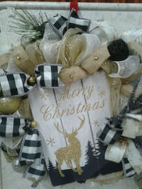 Christmas door wreaths and decorations