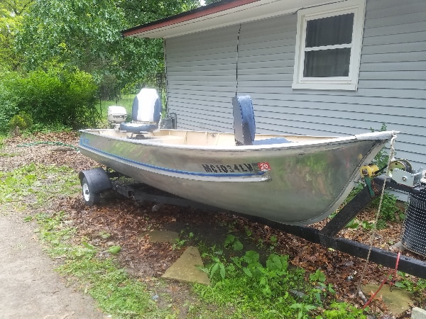 Used 14ft Meyer Aluminum Fishing Boat Great Condition For