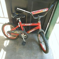 toddler's red and black bicycle Fresno, 93727
