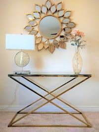 Brand New Zig Zag Golden Console Table Toronto