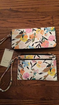white, pink, and green floral crossbody bag Alexandria, 22307