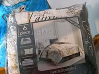 white and blue bed sheet set Rockville, 20852