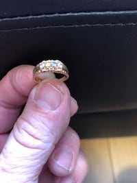 10K gold ring with 4 precious stones