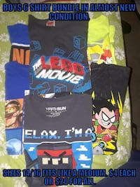 Disregard price on picture,$15 gets you all 6 cool T-shirt's. Austin, 78729