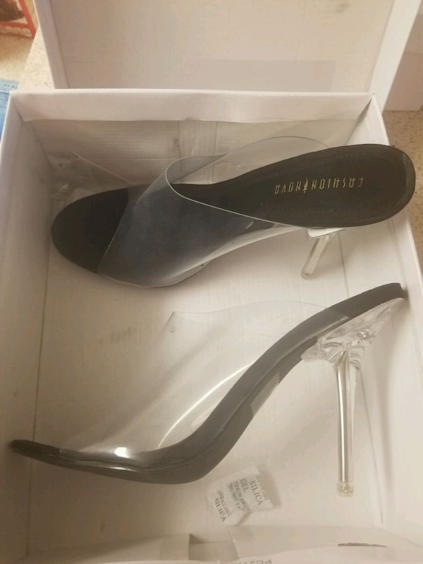cad5a122a48 Used Never used Fashion Nova Transparent Heels for sale in Concord ...
