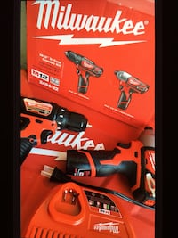 """Milwaukee New Brand KIT M12 3/8""""Drill/driver 1/4""""Hex Impact Driver 2 Red Lithium Battery Charger Bag Los Angeles, 91343"""