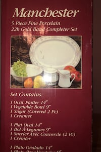 Fine porcelain with 22 K Gold Band 5 pieces Falls Church, 22042