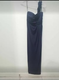 Women's navy blue one shoulder maxi gown 1492 mi