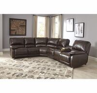 Ashley 4 piece Leather sofa   Orange, 92869