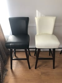 two black leather padded chairs Laval, H7G 1C5