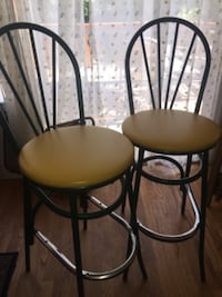 two padded bar stools 35 km