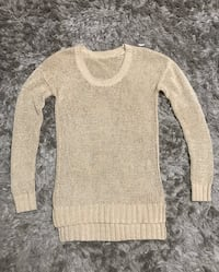 Club Monaco cream beautiful sweater