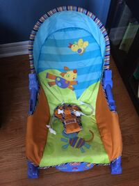 Baby's blue, green and orange fisher-price bouncer Brampton, L6P 2G2