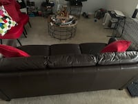 Chocolate Leather Couch Capitol Heights, 20743