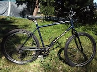 black and red hardtail mountain bike Burnaby, V5J 3G6
