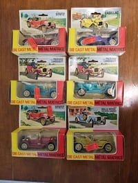 A collection of vintage diecast cars