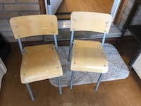 Childrens chairs. Sturdy Stackable  some wear and tear. Free delivery London, N6A