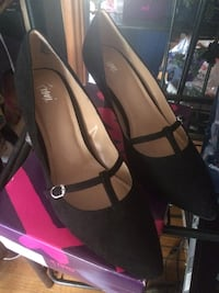 Pair of black t-strap,faux suede. Brand new retails at $79* size 10 Toronto, M1C 3C4