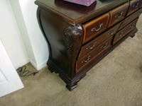 brown wooden dresser with mirror Athens, 30605