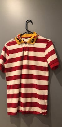Red and white stripe polo shirt Hyattsville, 20781
