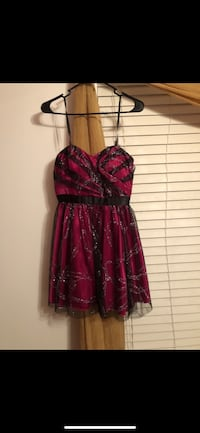pink and black homecoming/prom dress size 7-8 Wheaton, 60189