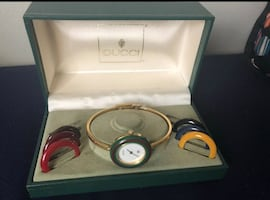 Gucci watch with bezels
