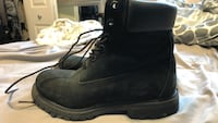 BLACK Genuine Leather Timberland Boots size 6 Calgary, T3K 5Y4