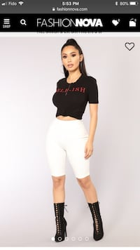 Fashion nova white biker shorts - Size L Mississauga, L5V 2E4