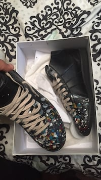 Blk Paint Splatter Hightop Mason Margielas New York, 11433
