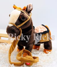 New My First Pony Stuffed Walk-Along Toy with Walking Action & Horse Sounds My First Pony Walk-Along Toy Stanley