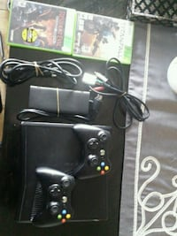 black Xbox 360 with controllers Toronto, M3H 4Y2