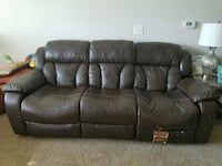 brown leather 3-seat and 2-seat recliner chair Woodbridge, 22191