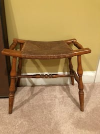 brown wooden frame glass top side table Nokesville, 20181