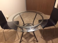 42in round glass table