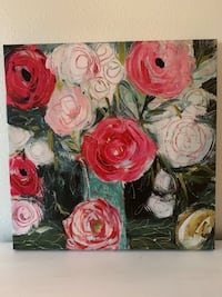 white and red rose flowers painting Fallbrook, 92058