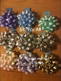 Forget me Not Bows, New,  $4.00 for all