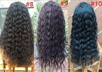 Three New 100% Human Hair Lace Top Wigs (s8,9,10) Glenarden