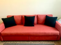 Three-seat sofa-bed, Skiftebo dark orange SINGAPORE