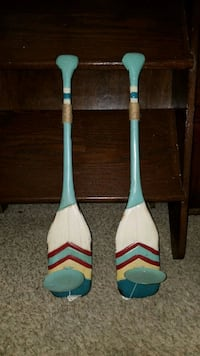 Oar candle holders