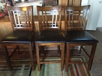 Three wood bar height chairs San Diego, 92113