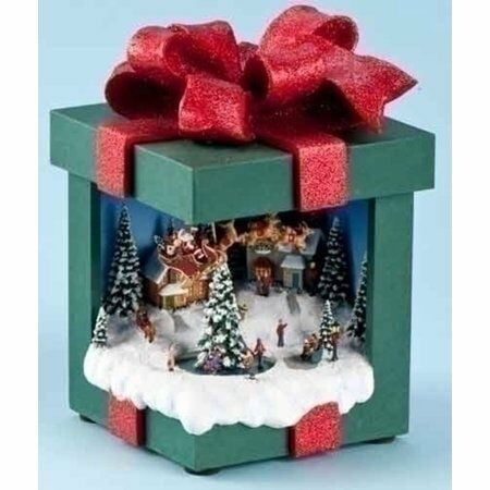 Lighted Animated Christmas Music Box With Winter Scene