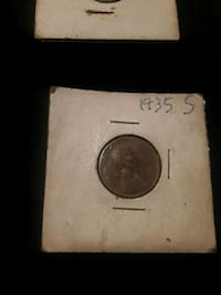 1935 s penny round silver coin in box Tustin, 92780