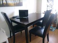 wooden dining table and chairs Edmonton, T6A 0M6