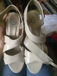 pair of white leather open-toe heels McAllen, 78504